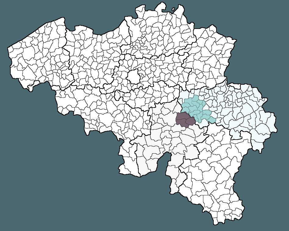 Henry Clémentine : déplacement dans les communes aux environs de Wanze : carte Belgique, communes Liège